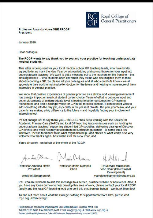 rcgp thank you letter